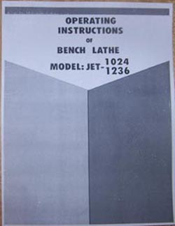 1024 1236a operators manual for jet 1024 & 1236 metal lathe  at crackthecode.co