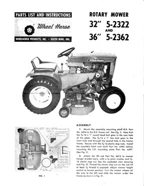 Wheel Horse 48 Mower Deck Manual - Pictures of Horses